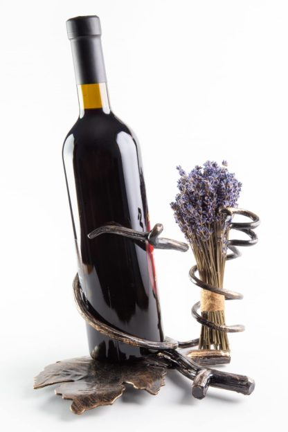 Suport sticlă de vin lavandă